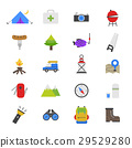 Camping Flat Color Icons 29529280