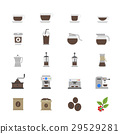 Coffee and Drink Flat Color Icons 29529281
