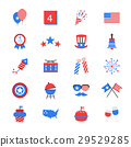 Independence Day Flat Color Icons 29529285