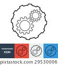 Transparent Gear icon. Vector icon 29530006