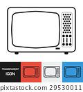 Transparent retro television icon. Vector icon 29530011