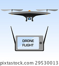 Drone with action camera, Vector Illustration 29530013