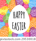 Greeting card with easter eggs.  29530018