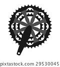 Vector bicycle cogwheel crankset sprocket.  29530045