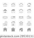 House and Home Set Of Building Icons Line 29530131