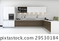 wooden decor kitchen with nice wallpaper 29530184