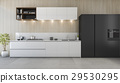 modern kitchen counter with white and black design 29530295
