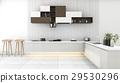 white modern kitchen with minimal decor 29530296