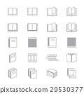 Book Icons Line Set Of Vector Design Illustration 29530377