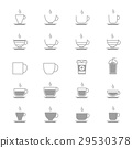 Coffee Cup Vector Icons Line Set Of Vector Design  29530378