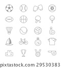 Sport Icons Line Set Of Vector Illustration 29530383