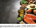 Healthy food with salmon fish 29530564