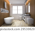luxury wood style bathroom and toilet 29530620