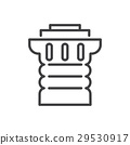 Ancient columns line icon 29530917