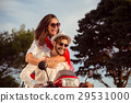 Couple in love riding a motorbike , Handsome guy 29531000