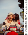 Couple in love riding a motorbike , Handsome guy 29531023