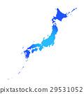 矢量 日本列島 日本 29531052