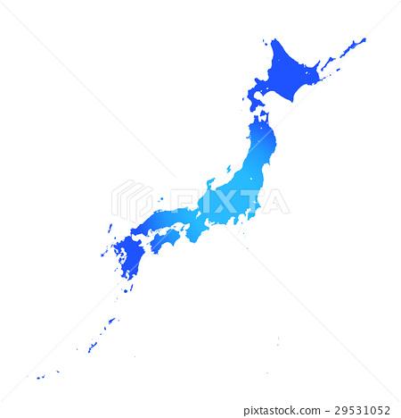 白色地面的日本海島 29531052