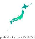 白色地面的日本海島 29531053