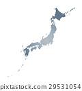 白色地面的日本海島 29531054