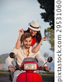 Couple in love riding a motorbike , Handsome guy 29531060