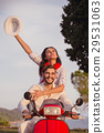 Couple in love riding a motorbike , Handsome guy 29531063