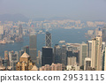 aerial view of the cityscape at Victoria Harbor. 29531115