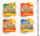 Set of different chips. 29531758