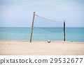 Beach volleyball court at sea. 29532677
