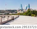 Baku boulevard, Caspian sea 29533723