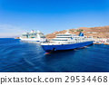 Cruise ship, Mykonos island 29534468