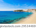 Mykonos island beach, Greece 29534469