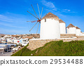 Windmills on Mykonos, Greece 29534488