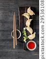 gyoza, deep, dumpling 29536108