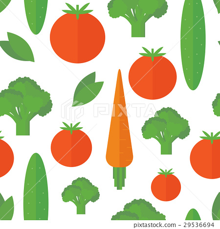 Seamless pattern vegetables. Vector background 29536694
