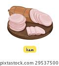 Ham on white background. 29537500