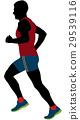 black silhouette male runner  29539116