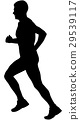black silhouette male runner  29539117