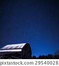 Rural barns at night with stars in winter 29540028