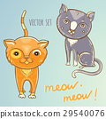 Vector set with cute cats 29540076