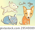 vector set with cute puppies 29540089