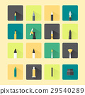 artist tools flat long shadow design 29540289