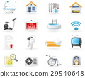 Accommodation amenities icon set 29540648