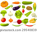 Vegetables set - cucumber, tomato, radish 29540839