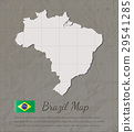 Brazil map silhouette. Paper card map. Vector 29541285