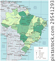 Brazil political map with selectable territories 29541293