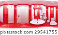 Restroom with toilet and washbasin 29541755