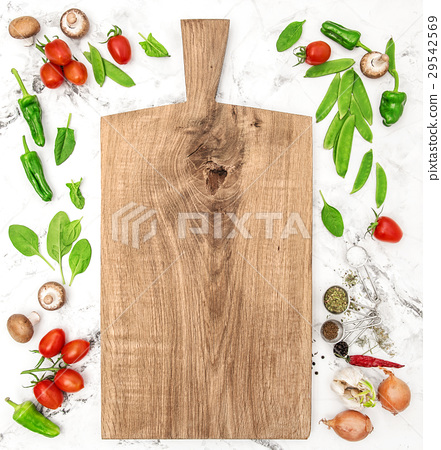 Cutting board and vegetables Healthy food detox  29542569