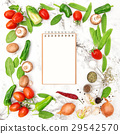 Recipe book fresh vegetables spices Healthy food 29542570
