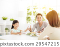 husband gives his wife  thumbs up for the  dinner 29547215